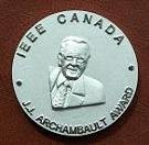 Medal for J.J. Archambault Eastern Canada Merit Award