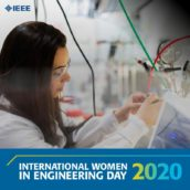 A woman engineer working in a lab.